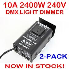 2x 1 Channel DMX 512 Stage Lighting System Light Dimmer Pack 240V Single Channel