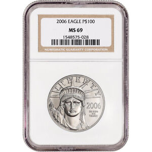 2006 American Platinum Eagle 1 oz $100 - NGC MS69