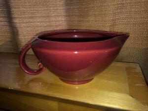 VTG Mid Century Vernon Ware Pottery Oxblood Burgundy Spouted Creamer MINTY