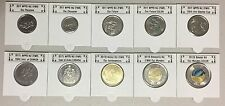 CANADA 2017 New Complete coins set with 25c and $2 (GID) in COLOR (BU from roll)