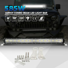 "32"" LED Light Bar Snowstorm Rain Fog Lamp 3 ROW for Offroad UTV Truck ATV SUV"