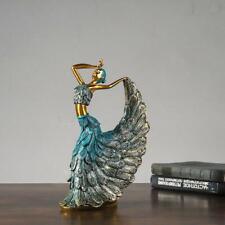 Dancing Figurine Peacock Abstract Art Ornament Statue Resin Sculpture Home Decor