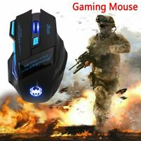 USB Wireless Gaming Mouse LED Adjustable 2400dpi Optical Mice For PC Laptop UK