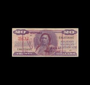 SERIES 692 $20 MILITARY PAYMENT EXTRA FINE
