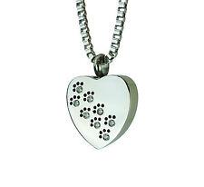 Pfoten auf Herz Urne Halskette  Gedenk Asche Andenken  Feuerbestattung Schmuck
