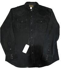 RALPH LAUREN Double RL ( L ) Limited Edition Suede Western Shirt RL 355 Black