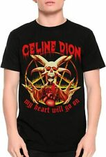 Celine Dion Vintage Death Metal T-Shirt, My Heart Will T Shirt Classic for Men