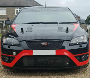 Ford Focus mk2 Headlamp eyebrows spoilers brows inc ST ABS Gloss black