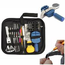 144Pcs Watch Repair Tool Set Kit Adjustable Back Case Opener Spring Bar Receiver