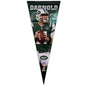 "SAM DARNOLD #14 NEW YORK JETS ROLL UP PREMIUM PENNANT 12""x30"" NEW WINCRAFT"