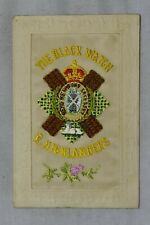 More details for postcard military ww1 embroidered silk
