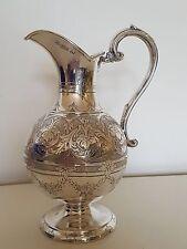 Solid Silver Wine or Milk Jug 1865 Sheffield by William & Henry Stratford