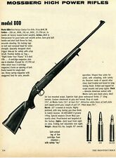 1975 Print Ad of Mossberg Model 800 800A High Power Bolt Action Rifle