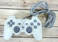 Sony PlayStation 1 PS One White OEM Controller SCPH-110 Tested