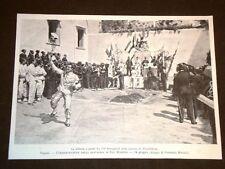 Napoli nel 1903 Battaglia San Martino Bersaglieri Pizzofalcone + IV° Albanese
