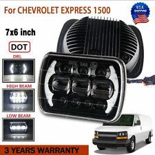 DOT 7''x6'' LED Headlight Headlamp For Chevy Express Cargo Van 1500 2500 3500