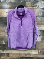 Saucony Women's Purple & White Athletic Running 1/4 Zip Pullover Top size XL