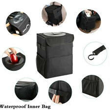 Black Waterproof Leakproof Car Trash Can Organizers Bag For Interior Accessories