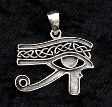 PENDENTIF OEIL D' HORUS OUDJAT ARGENT-CROIX ANKH 925-5.7g-BIJOUX EGYPTE-W1B 9961