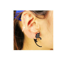 SEXY SPARKLES Sexy Sparkles 3D Double Sided Black Cat Ear Stud Earrings for Wome