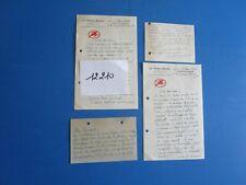 N°12210 /  lettres et cartes le diable rouge association des anciens combattants