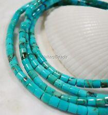 "100% Natural Turquoise Kingman Arizona USA Heishi Rondelle Bead 3 MM 16"""