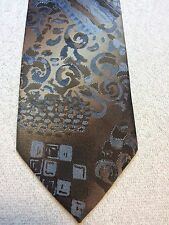 Vintage Wembley Mens Tie 3.75 X 57 Brown, Beige With Bluish Gray