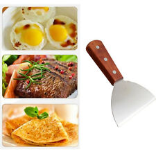 Stainless Steel Cake Cookie Pizza Pie Spatula Shovel Wood Handle Cooking Tool