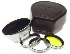 VOIGTLANDER 310/32 lens hood metal shade FOCAR UV 302/32 yellow leather case kit