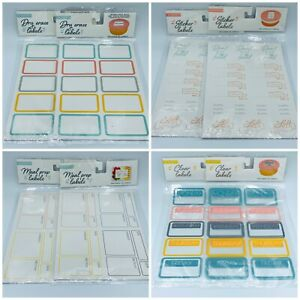 Lot Of 2 TARGET Labels -Clear/ Dry Erase/ sticker/ meal prep ~ choose yours