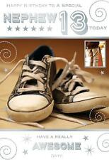 A Special Nephew 13 Today 13th Trainers & Skateboard Design Happy Birthday Card