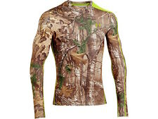 UNDER ARMOUR Men's Hunting Infrared Scent Control Evo Crew L/S Shirt MEDIUM
