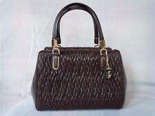 NWOT Coach Madison Gathered Twisted Oxblood Leather Satchel Shoulder Bag 49723