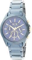 Armani Exchange Men's AX2607 Blue Stainless-Steel Japanese Quartz Fashion Watch