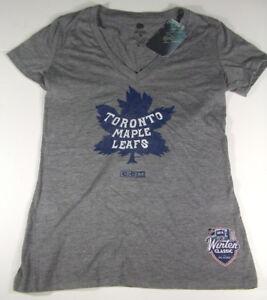2014 Winter Classic Toronto Maple Leafs Womens V-Neck Vintage Logo T-Shirt CCM