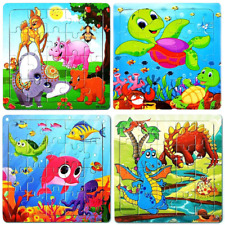 Wooden Jigsaw Puzzles for Kids Ages 3-5 Toddler Puzzles 20 Pieces Preschool Educ