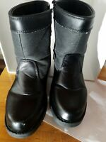Totes  Men's Black Side Zip up Boots sock lined  size 8 medium