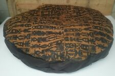"""Ashford Court Leather Patch 36"""" round Dog Bed Cover Only Alien Symbols Print"""