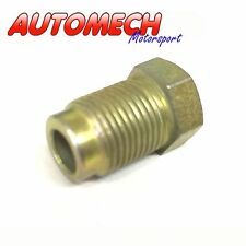 "Automech Brake Pipe union M12x1.0 for 1/4"" Pipe Pack of 2, Plated Finish (U23)"