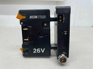 Anton Bauer Wooden Camera 26V Gold Mount Plus Sharkfin Dual Battery Mount