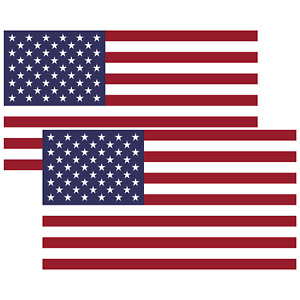 2x US American Flag Vinyl Sticker Decal For Car Truck Laptop