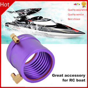 Metal Water Cooling Jacket for 3650/3660 36mm Brushless Motor RC Boats Purple ❤