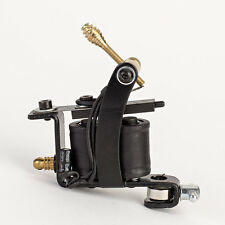 New Classic Tattoo Machine Gun with 10 Wrap Coils for Liner / Shader - Black
