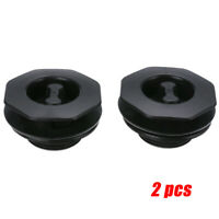 2X Black Car Mat Carpet Clip Anti Slip Knob Pad Fixing Grip Clamp Floor Holder