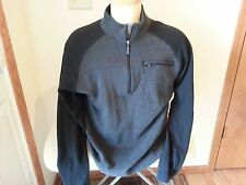 Columbia Vertex 1/2 zip long sleeve charcoal & black shirt - mens large