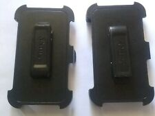 2x Replacement LG G2 OTTERBOX Defender Case Black Belt Clip Holsters Only