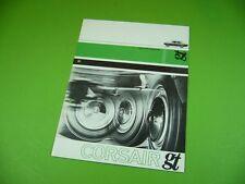 406KA2 Alter 60er Jahre Prospekt, leaflet, Brochure: Ford CORSAIR gt
