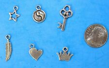6pcs Tibet Silver Pendants LOT #9 Mixed Crafts Jewelry Making Charms