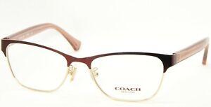 NEW COACH HC 5067 9235 Satin Burgundy Gold /CRYS Cherry EYEGLASSES 51-17-135mm