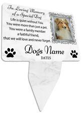 Foto de perro personalizado Memorial Placa & Juego-Spike Marco, Perro, jardín tumba